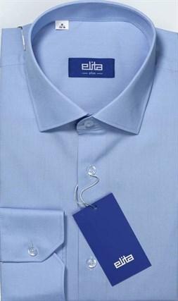 Однотонная голубая сорочка мужская