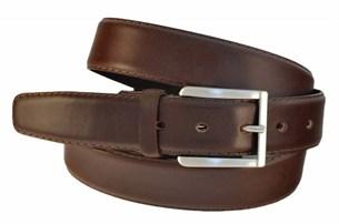 Длинный коричневый ремень для брюк
