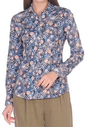 Женская хлопковая рубашка BAWER 2RYG60012-05 - фото 15403