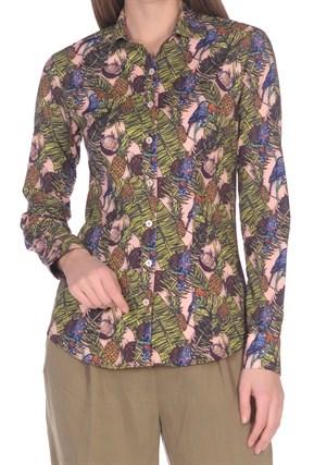 Женская хлопковая рубашка BAWER 2RYG60012-04 - фото 15413