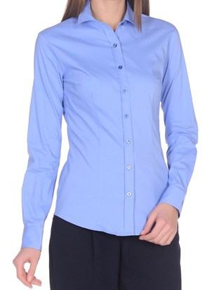 Женская хлопковая рубашка BAWER 1RYG40012-05 - фото 15435