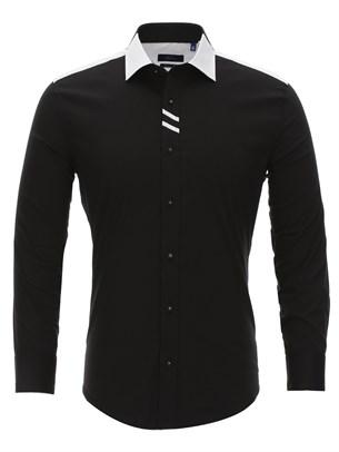 Черно белая рубашка