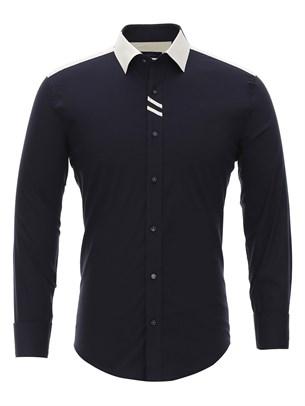 Приталенная рубашка Bawer RZ1113008-02 - фото 15477