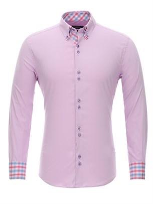 Сиреневая мужская рубашка