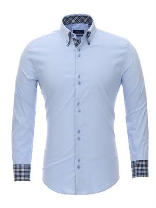 Приталенная рубашка Bawer RZ1111004-03 - фото 15507