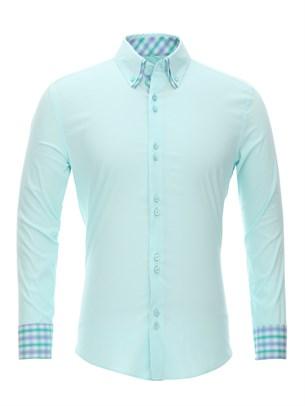 Приталенная рубашка Bawer RZ1111004-05 - фото 15519