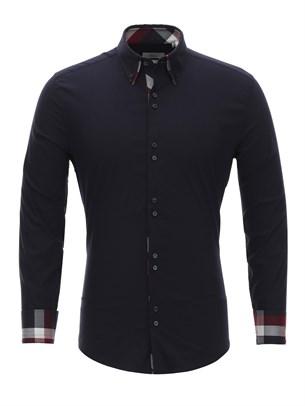 Приталенная рубашка Bawer RZ1111005-01 - фото 15525