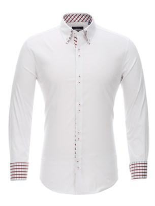 Приталенная рубашка Bawer RZ1111005-02 - фото 15531