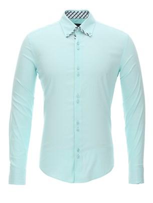 Приталенная рубашка Bawer RZ1111005-03 - фото 15540