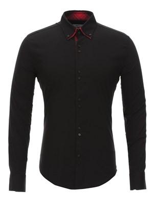 Приталенная рубашка Bawer RZ1111005-05 черная - фото 15555