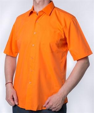 Оранжевая мужская рубашка