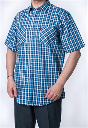 Рубашка мужская хлопок SH665-1s H Brostem - фото 15623