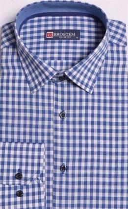 Большая рубашка лен + хлопок 8LG9-1g BROSTEM - фото 15735