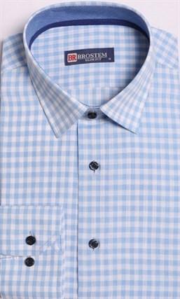 Большая рубашка лен + хлопок 8LG9-2g BROSTEM - фото 15739