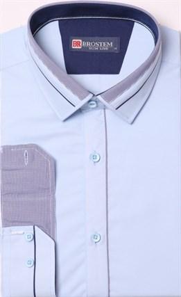 Голубая рубашка с модалом