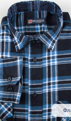 Фланелевая рубашка 100% хлопок BROSTEM F11317-2 - фото 16038