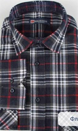 коричневая байковая рубашка
