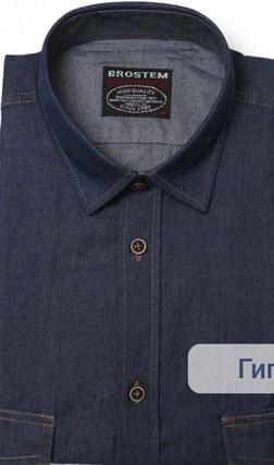 Большая джинсовая рубашка LAN-1-G - фото 16064