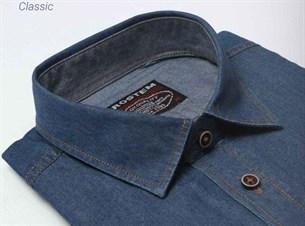 Большая джинсовая рубашка