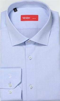 Рубашка мужская приталенная VESTER 68814-01 - фото 16114