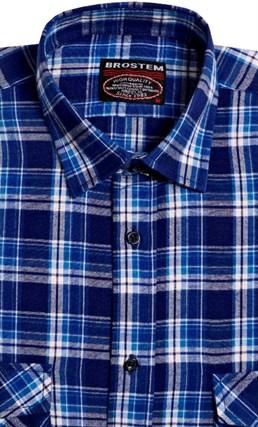 Большая фланелевая рубашка BROSTEM KA302g - фото 16139
