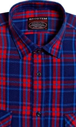 Большая фланелевая рубашка BROSTEM KA5052g - фото 16141