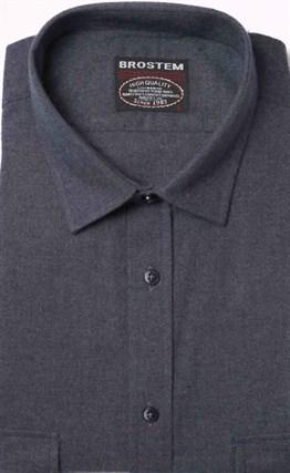 Однотонная фланелевая рубашка