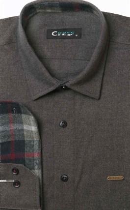 Молодежная серая фланелевая рубашка