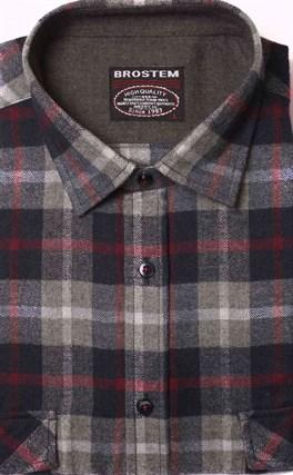 Фланелевая рубашка р.М хлопок/шерсть BROSTEM KA1 - фото 16185