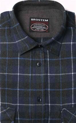 Фланелевая рубашка хлопок/шерсть BROSTEM KA9 - фото 16206