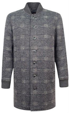Демисезонное широкое пальто со стойкой ЭРМЕН OSF - фото 16283