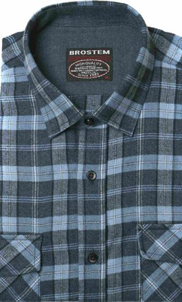 Полуприталенная фланелевая рубашка с шерстью KA9L5-4 - фото 16294