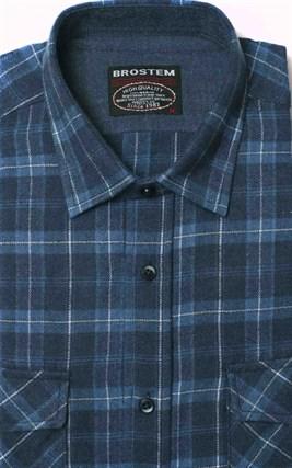Полуприталенная фланелевая рубашка с шерстью KA9L5-3 - фото 16300