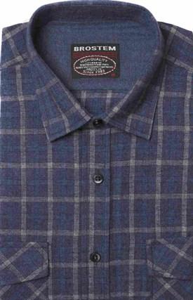 Полуприталенная фланелевая рубашка с шерстью KA9L5-6 - фото 16306
