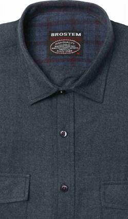 Полуприталенная фланелевая рубашка с шерстью KA9L5-2 - фото 16318