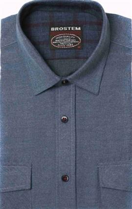 Полуприталенная фланелевая рубашка с шерстью KA9L5-1 - фото 16324