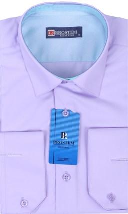Рубашка из модала и хлопка Brostem 4708-HZ полуприталенная - фото 16369