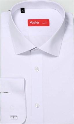 Белая рубашка VESTER 70714-01-19 приталенная - фото 16402