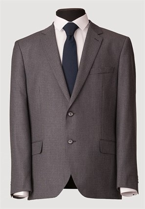 Серый неприталенный костюм