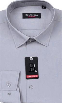 Прямая мужская рубашка BROSTEM CVC15B - фото 16509