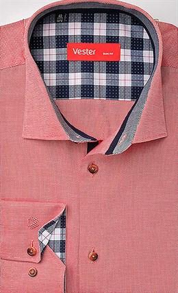 Рубашка розовая приталенная VESTER 21514-84sp-20 - фото 16893