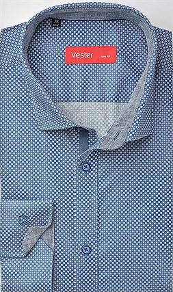 Рубашка навыпуск стрейч VESTER 21718-10sp-20 - фото 16922