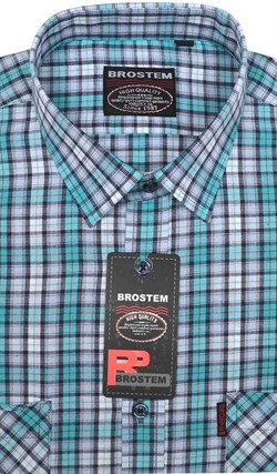 100% хлопок большая рубашка SH450-2g BROSTEM - фото 16959