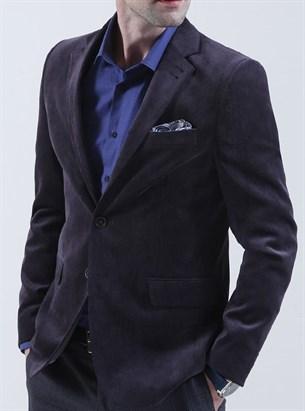 Вельветовый пиджак полуприталенный BF 1309 - фото 16980