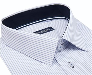 Большая рубашка короткий рукав в полоску