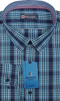 Рубашка 100% хлопок полуприталенная BROSTEM K6-230 - фото 17306