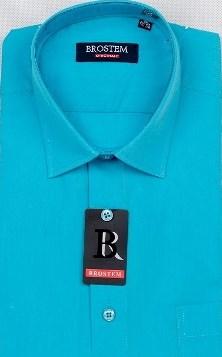 Прямая бирюзовая рубашка BROSTEM CVC59 - фото 17310