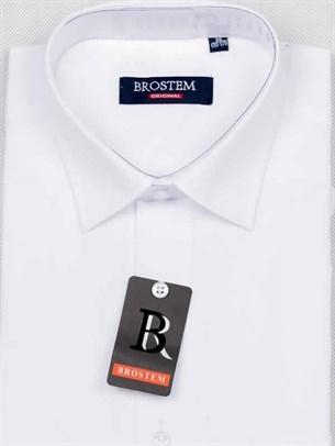 Рубашка приталенная с коротким рукавом BROSTEM CVC2s** - фото 17317