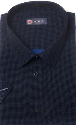 Большая хлопковая рубашка короткий рукав BROSTEM 1SG057-2 - фото 17443