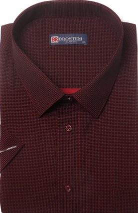Большая хлопковая рубашка короткий рукав BROSTEM 1SG057-3 - фото 17447